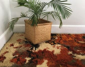 mid century rya shag rug