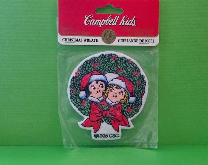 """Campbell Kids Christmas Patch """"Christmas Wreath"""" (1995)"""