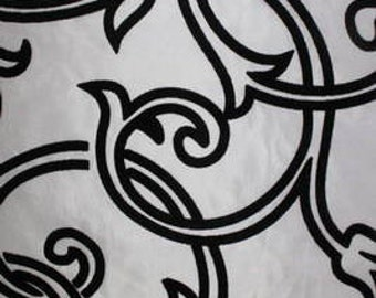 Astoria Collection - Pattern #15  Black and White Taffeta Fabric by the Yard
