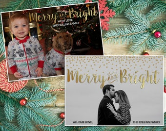 Christmas Card - Merry & Bright