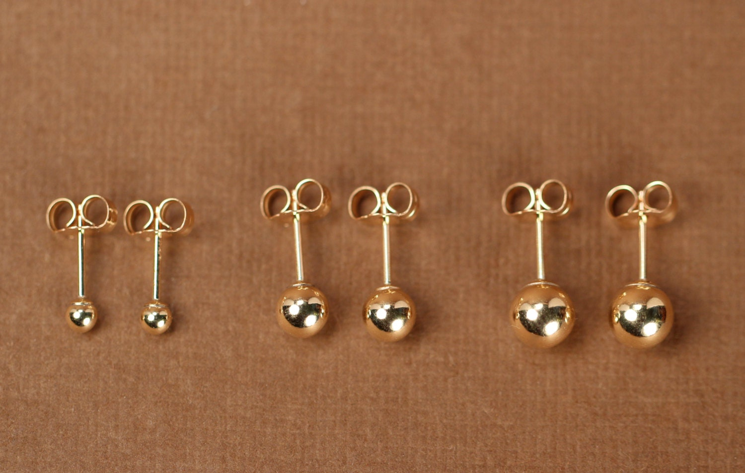 dp stud ball earrings yellow amazon gold com jewelry
