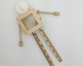 1 Do it yourself ready to decorate hanging doll to alter with  wood body and plaster head.