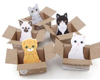Kitty Sticky Note Post-It 5PCS set (Korean Stationary - Kitty House IT)