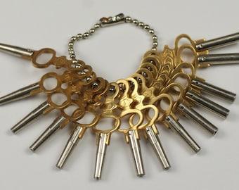 Satz 14 Taschenuhr Handaufzug Schlüssel Wind alle Jahrgang alte Taschenuhr Reparaturen neue