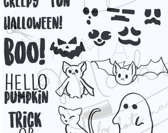 Mama Makes Stamps - Spooktacular Halloween - 22 Stamps