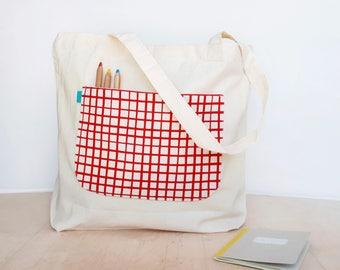 Market bag, Zero waste, Zero waste bags, Reusable grocery bag, Large tote bag, Organic cotton bag, Shopper bags, Eco bag by Olula