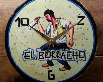 Loteria El Borracho Wall Clock