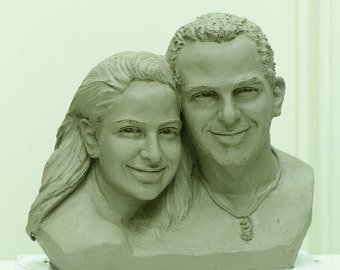 Custom double heads sculpture (large size)