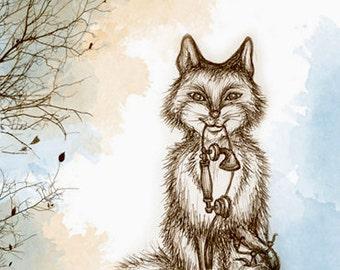 "The Fox - ""Woodland Creatures"" series Art Print"