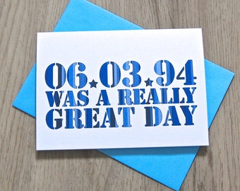 Really Great Day Card – Personalised Date Wedding Card – Card for Couples – wedding card for husband wife  – wedding card newlyweds