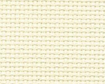 Aida 18 count Cream Ecru Aida from DMC, aida for cross stitch, 18 count cross stitch fabric, Choice of sizes