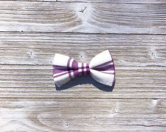 Pawple Plaid Dog Collar Bow Tie