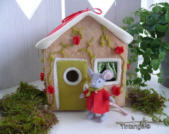 Mouse stays at home - Cottage - DPF pattern  download