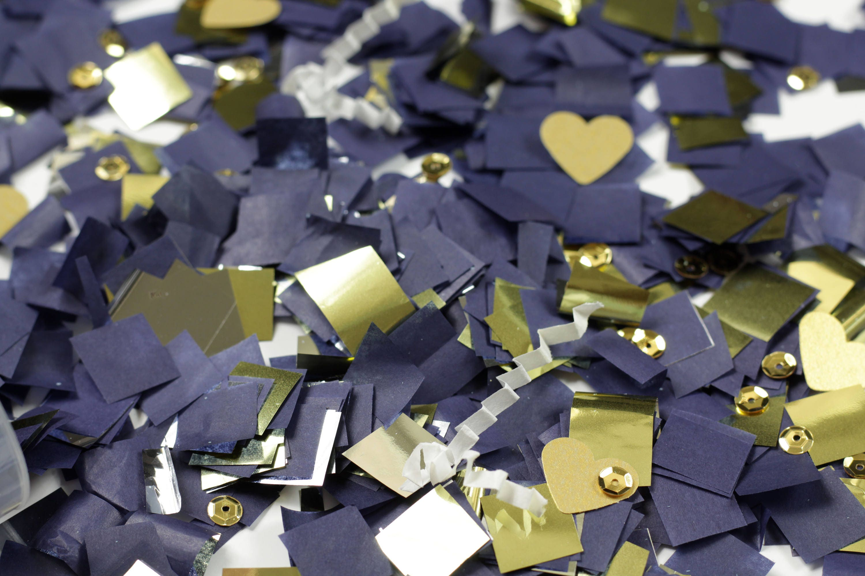 Navy Blue Wedding Decor Navy Blue And Gold Confetti Popper Navy