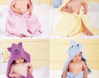 Sirdar 4541 knitting pattern baby blankets 4 styles DK new