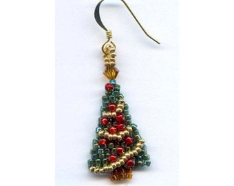 pdf - Beaded Christmas Tree Earring (Instructions)