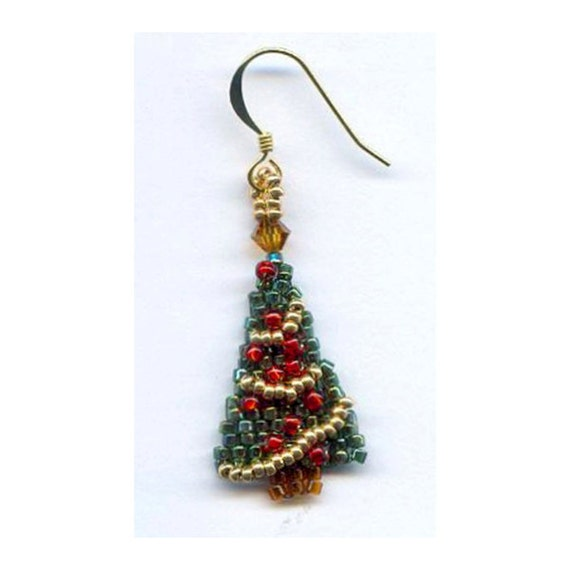golden tree blog tutorial earrings beads age diy christmas