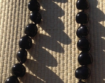 Kuikui Nut Lei Or Necklace. Hawaiian Black Kukui Lei. Perfect For Luau, Dancers, Wedding, Gifts, Beach Wedding, Or Any Polynesian Events.