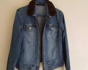 Alexis and Avery Denim Jacket with faux fur