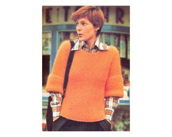 Easy Bulky Pullover Knitting Pattern - Quick Knit Sweater