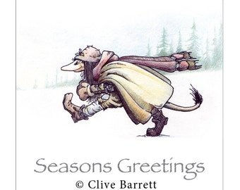 Troll Toys - Seasons Greetings - Folklore and Fairy Tale Greetings Card