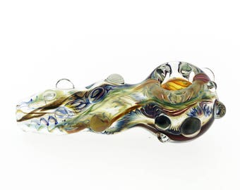 Ashmere Glassworks Hand Blown Glass Smoking Pipe InsideOut Borosilicate spoon   # 15