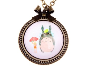 My neighbor totoro, Totoro Necklace, Totoro jewelry, 2525C