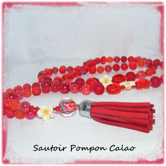 Sautoir pompon [Calao]