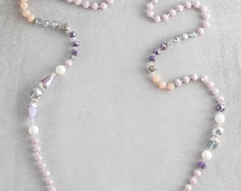 Nadia Beaded Necklace | Lavender