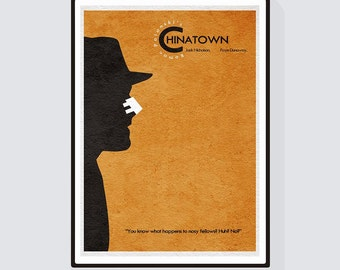 Chinatown Minimalist Alternative Movie Print & Poster