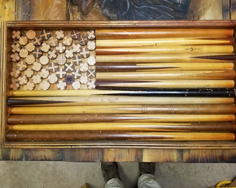 Father's Day Gift -Pool Stick Flag