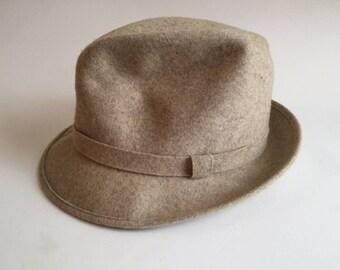 Pendleton Wool Fedora Hat Fawn Khaki color sz 7