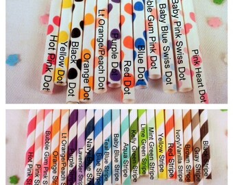 100 Paper Straws - Your Choice of Colors - Mix and Match