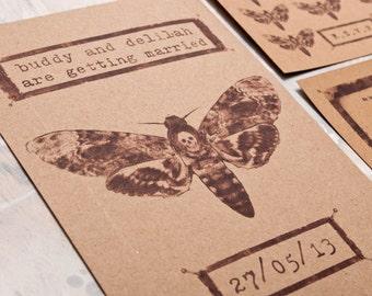 Pinned Moth Wedding Invitation - Invite Suite sample
