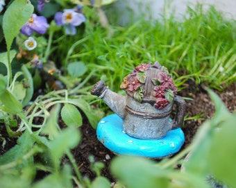 Watering Pot for Miniature Garden | Faerie | Miniatures | Watering can | Fairy Figurine | Fairies | Fairy Decorations | Resin | Garden