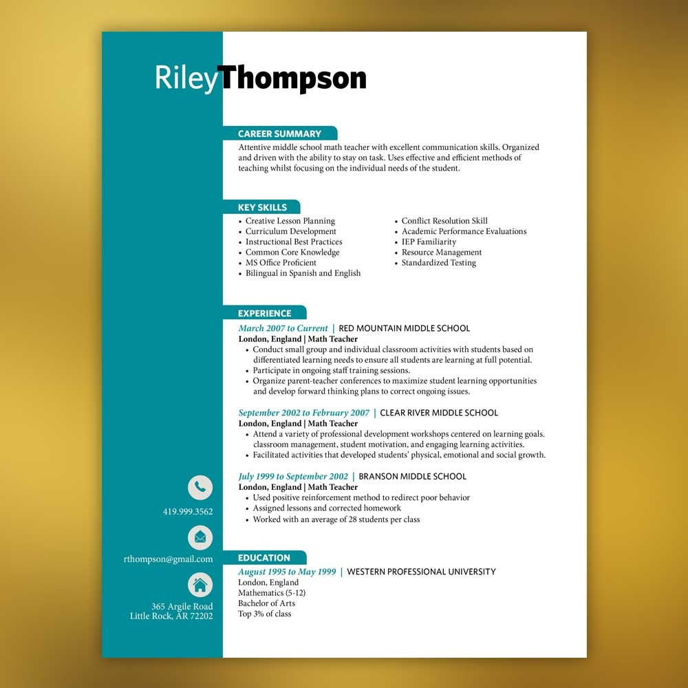 Contemporary Simple Resume Template Indesign Ornament Resume Ideas