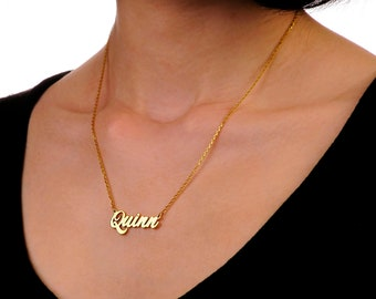 Personalized name necklace-gold necklace-personalized gift-name jewelry-gold name necklace-Name necklace-7