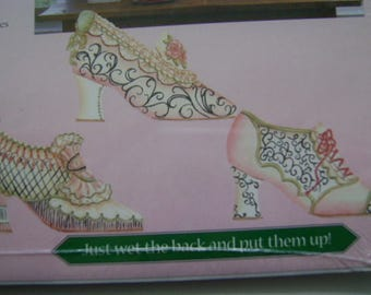 Wallies - Antique Shoes - 3 Different Designs New in Package