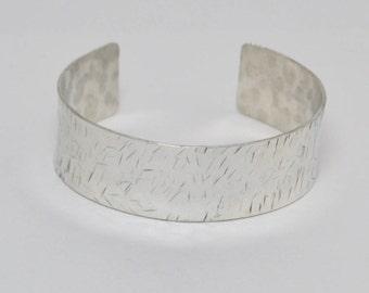 Silver Cuff / Hammered Silver Bracelet / Handmade Silver Cuff Bracelet / Contemporary Silver Cuff Bracelet
