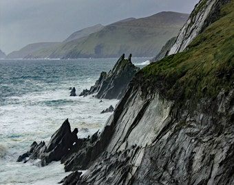 Ocean Photograph, Wall Art, Beach, Island Photography, Cliff Photography, Ireland, Fine Art Print, Dingle Peninsula