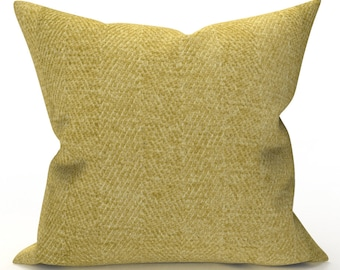 DECORATIVE THROW PILLOW Cover - Solid Deep Yellow Pillow - Solid Throw Pillow, Designer Pillow, Home Decor