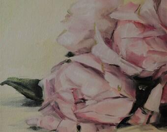 Pale Pink Peonies 001 - Floral Oil Painting