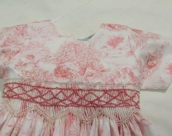 "smocked cotton dress printed ""beatrix animals"