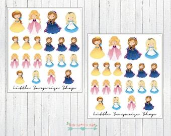 Kawaii Princess #3 Stickers // KC016