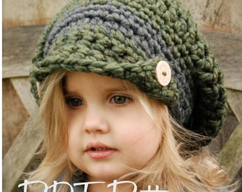 Crochet PATTERN-The Addyson Slouchy (Toddler, Child, and Adult sizes)