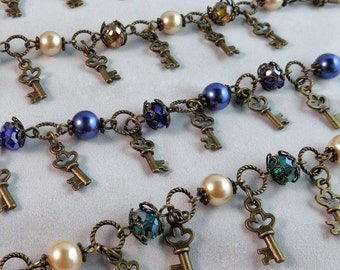 Vintage Steampunk Key Bracelet