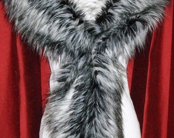 Siberian Wolf Luxurious Faux Fur Scarf  Brand New !!
