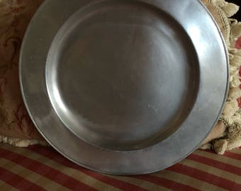 French Country Provence Round Wilton Pewter Plate