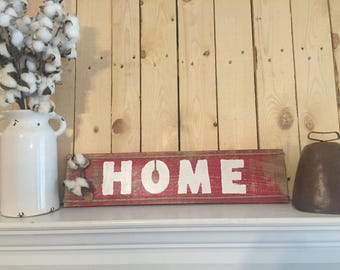 Red rustic pallet wood Home with faux cotton