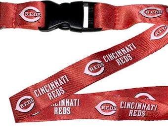 Cincinnati Reds MLB Lanyard Keychain & Keyring